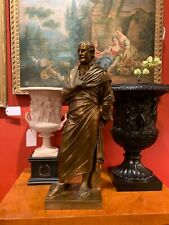 19th Century French Grand Tour Barbedienne Bronze Statue of Scholar