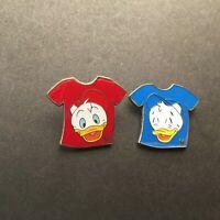 WDW Cast Lanyard Series #3 Duck T-Shirt Red/Huey Blue/Dewey 2 Disney pins 35556