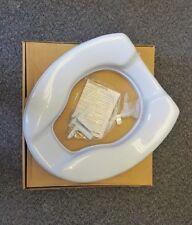 "2"" / 5cm Raised Toilet Seat Light Blue Elevated Raiser Disability Toileting Aid"