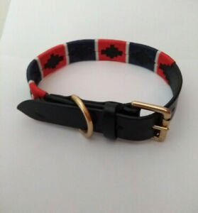 Dog Collar*POLO Gaucho Argentina Real Premium Leather*HANDMADE* BLACK*Sizes S, M