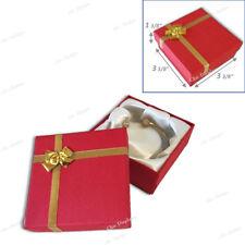 LOT OF 7 RED BRACELET BOXES BANGLE BOX w/BOW TIE WATCH BANGLE BOX JEWELRY BOXES