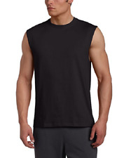 NWT Men's Russell Athletic  Cotton Crew Neck Muscle  Tee Shirt 3X Black