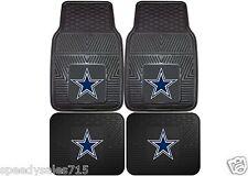 FANMATS NFL Dallas Cowboys Front & Rear Heavy Duty Car Mats New Free Shipping