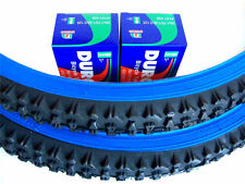 1 PAIR 26X2.10 MOUNTAIN BICYCLE TIRES PLUS 2 TUBES - BLUE WALL -FREE RIM LINERS