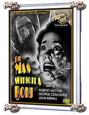 THE MAN WITHOUT A BODY (DVD) 1957 ROBERT HUTTON, GEORGE COULOURIS, JULIA ARNALL