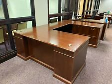 5 12 X 8 U Shape Desk By Steelcase Office Furniture In Cherry Finish Wood