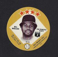 1978 MSA Big T / Tastee Freez Discs BILL MADLOCK San Francisco Giants MINT