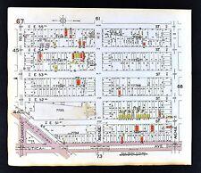 1929 Brooklyn Map Flatlands Utica Avenue H I O T U  50-58th Street New York City