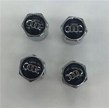 4PCS Audi Tire Wheel Rims Stem Air Valve Caps Tyre Cover Car Truck Bike