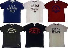 Abercrombie & Fitch Men's Basic No Pattern Short Sleeve T-Shirts