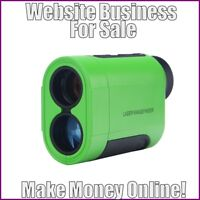Fully Stocked GOLF RANGE FINDERS Website Business|FREE Domain|Hosting|Traffic