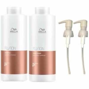 Wella Fusion Shampoo 1000ml and Fusion Conditioner 1000ml + Two Pumps - FREE P&P