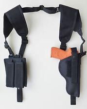 Vertical Shoulder Holster for GLOCK 19, 23 & 38 with Tactical Light-Dbl Mag Pch