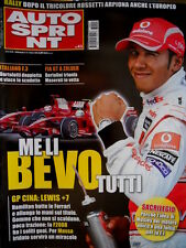 Autosprint 43 2008 Cina: Hamilton batte la Ferrari. FIA GT: Maserati 1° SC.58