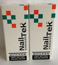 NAIL Tek Quicken x2 bottiglie-Fast Setting SMALTO ASCIUGATORE!!!
