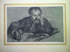 Edgar Degas - Portrait De Duranty - Lithograph Bookplate (1922)