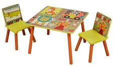 Children's Safari Table and 2 Chair Set For Kids Games, Fun, Play Room, Nursery