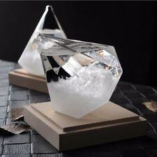 Weather Forecaster Storm Glass Crystal Diamond Shape Bottle Home Ornament Decor