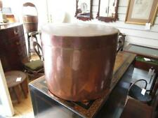 More details for antique kitchen  heavy copper cooking /stock pot 5.35kg (26cm tall)