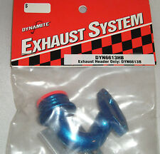 DYNAMITE ENGINES R/C MODEL PARTS DYN6613HB EXHAUST HEADER ONLY: DYN6613B BLUE