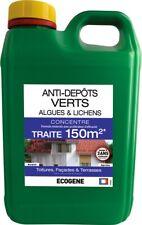 Anti-dépots verts algues et lichens concentré Ecogène - Bidon 2 l