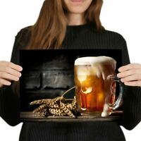 PINT COLD BEER LAGER DRINK PHOTO ART PRINT POSTER PICTURE BMP2376A