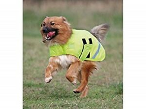Shires Waterproof & Breathable Dog Coat - Fluroscent Yellow - Extra Extra Small