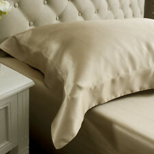Jasmine Silk  Oxford Silk Pillow Case Taupe RRP £35