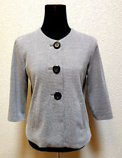 PETITE SOPHISTICATE WOMEN'S JACKET/BLAZER SZ 10P WHITE & BLACK TWEED,BUTTON UP