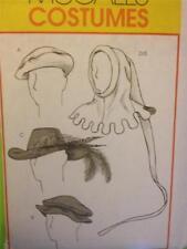 McCalls Sewing Pattern 4805 Mens Medieval Renaissance Hats Size S-L Uncut