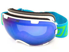 DIRTY DOG Small Fit Afterburner 0.5 Ski Goggles White / Green Mirror 54187