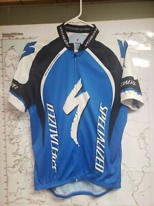 Specialized men's cycling jersey blue black & white size Large