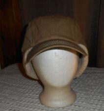 NEW FADED GLORY DESERT CAMEL EARFLAP CADET CAP FAUX FUR TRIM