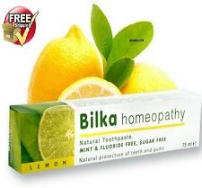 Natural Toothpaste Free Fluoride and Menthol. Bilka HOMEOPATHY- Lemon