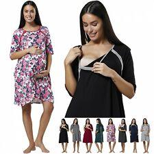 ZETA VILLE Women's Maternity Nursing Delivery Hospital Gown Nightwear 1140