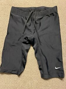 Men's Nike Black Jammers Racing Swimsuit Compression Shorts 28 Small S