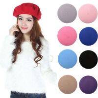 Fashion Wool Warm Girls Women French Classic Beret Beanie Slouch Hat Cap Tam