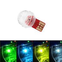 Car USB Interior Atmosphere Neon Light Mini Colorful Music LED Decor Lamp 1pc