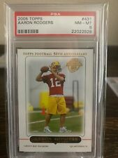 2005 Aaron Rodgers Topps RC Rookie PSA 8 #431 Packers