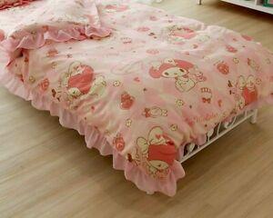 My Melody Bedding Comforter Cover Pillowcase Sanrio Kawaii Cute Pink