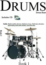 The best drum tuition book for beginners - With CD - Drums Book 1 By Alex Biggs