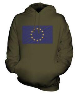EU SCRIBBLE FLAG UNISEX HOODIE TOP GIFT FOOTBALL