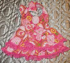 XS female Dog dress [ pink flowers] cotton handmade
