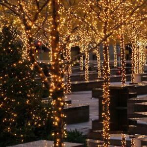 LED Lichterkette 20m 200 LED Warmweiss innen außen weihnachtslicht party licht