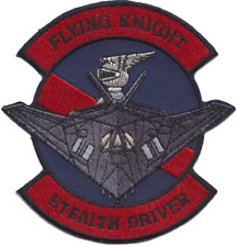 US Air Force 9th Attack Squadron Stealth Driver Embroidered Patch LAST FEW