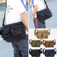 NEW Women Men's Casual Canvas Bag Handbag Travel Handbag Messenger Shoulder Bag