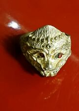 Amulet Ring Magic Powerful Thai Buddha Hanuman Gold Face Talisman Lucky, Charm