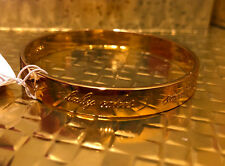 Kate Spade Gold Idiom Bangle inscriptions: Sweetheart, Cutie Pie, Darling, New