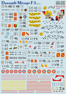 Print scale 72-397 NEW Mirage F.1CG Part 2 - 1/72 scale
