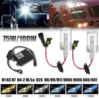 2x H1 H3 H7 H8 H9 H11 9005 9006 881 75W/100W HID Xenon Headlight  + Ballast Kit